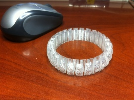 Bracelet printed by MakerBot Replicator 2